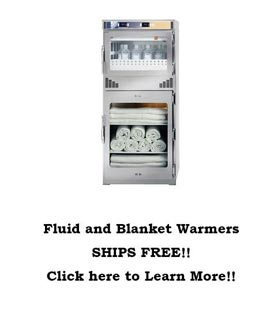 Combination Blanket/Fluid Warming Cabinet